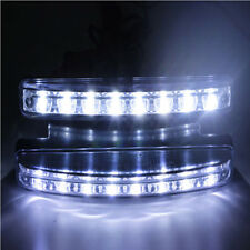 1pc Universal White 8 LED DRL Car Truck Van Day Daytime Running Fog Light 12V