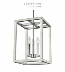 "Sea Gull Lighting 5134503-962 Moffet Street Foyer Pendant Brushed Nickel 15"" Tal"