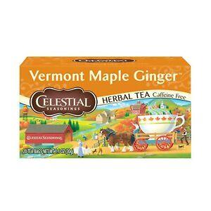 Celestial Seasonings Herbal Tea, Vermont Maple Ginger, 20 Count (Pack of 6)
