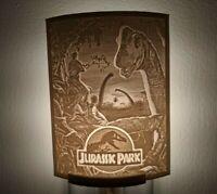 Jurassic Park Movie Poster Lithophane Night Light