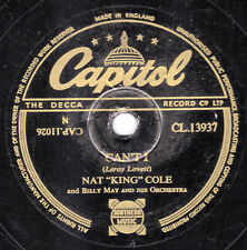 """1953 UK #6 NAT """"KING"""" COLE 78 CAN'T I / SMALL TOWNS ARE SMILE TOWNS  CL 13937 EX"""