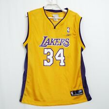 NBA Reebok LA Los Angeles Lakers Oneal Shaquille Jersey #34 Youth Size Boys L