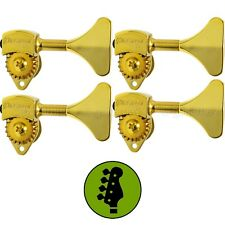 """NEW Hipshot USA HB6 3/8"""" Ultralite® Bass Tuning Bass Side 4 in Line Y Key - GOLD"""
