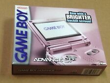 Nintendo Game Boy Advance SP AGS-101 Pearl Pink Handheld System Sealed Brighter