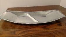 Doehler-Jarvis National Lead Co Chrome Decorative Serving Platter Tray Dish