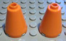 Lego Stein Kegel 2x2x2 Orange 2 Stück                                     (1885)