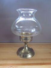 Brass Hurricane Lamp Candle Holder - Vintage India