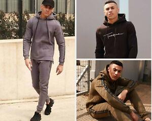 Branded Men Full Tracksuit Set Sweatshirt Joggers Bottoms Pullover Hoodie Hooded