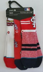 MLB STANCE St Louis Cardinals Team Toddler Socks 3 pack 2-4 Years Old baseball