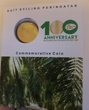 100 years Anniversary Kelapa Sawit / Oil Palm Nordic Gold coin card.