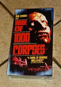 Rare SEALED NEW House of 1000 Corpses VHS tape 2003 Horror Rob Zombie Sid Haig