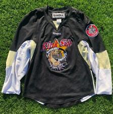 Rare Black Reebok Chicago Wolves Felicicchia NIHL Minor League Hockey Jersey S