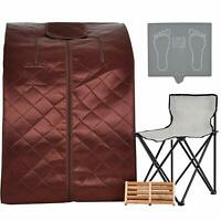 Far Infrared Sauna Spa Full Body Slim Loss Weight Detox Therapy w/Chair Portable