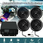 Black 1000W Motorcycle bluetooth Stereo 4 Speakers Audio Music MP3 System Radio
