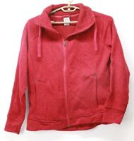 Avalanche Women's Full Zip Jacket Sweater Red Thumb Holes XL