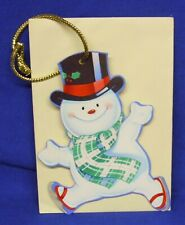 Hallmark Christmas Keepers Hanging Card Gift Tag The Skating Snowman Donna Lee