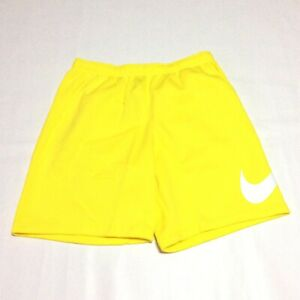 Nike Sportswear Club Swoosh Fleece Logo Yellow Shorts Men's Size 3XLT BV2721-731