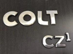 MITSUBISHI COLT CZ1 rear badge emblem logo letters (C67)