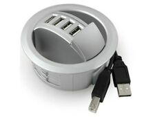 30 X Front Access In Desk 4 Port USB Hubs Silver