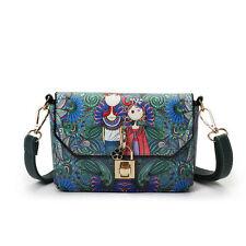 Ladies Cartoon Floral Cross Body Messenger Bag Satchel Bag Shoulder School Bags