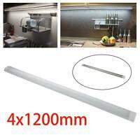 New 4pcs LED Batten Linear Tube Light 4FT Modern Ceiling Surface Mounted Lamp UK