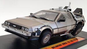 Sun Star 1/18 Scale Model Car 2710 - Deloren Back To The Future II - Silver
