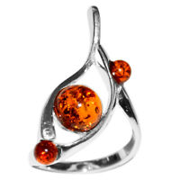 4g Authentic Baltic Amber 925 Sterling Silver Ring Jewelry N-A7444