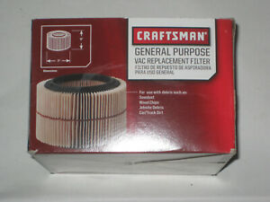 NEW!  Craftsman Shop Vac Replacement Filter 917810  Fits most 3 & 4 gal Vacs