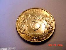 1999 GEORGIA Quarter Denver mint 24KT GOLD PLATED STATE QUARTER
