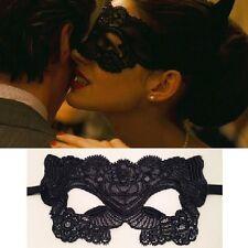 Masque Loup Venitien Dentelle Bal Catwoman Carnaval  Noir Black Mask Lace