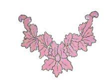 Sequin Bead Applique Belly Dance Motif Necklace Pink