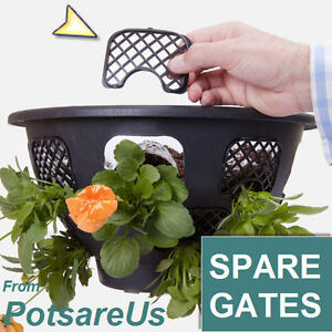 4xSPARE EASY FILL HANGING BASKET CLIPS (BLACK) GATES