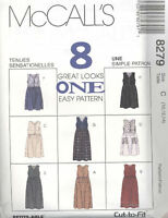 McCall's 8279 Misses' Jumper In Two Lengths   Sewing Pattern