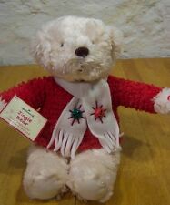 "Hallmark Jingle Bear 14"" Plush Stuffed Animal New Christmas"