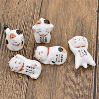 Japanese Cat Chopsticks Holder Stand Rack Decor Lucky Fortune Kitchen Cutlery