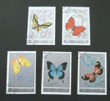 Oman-1972-Set of 5 Pictorial Butterflies-Used
