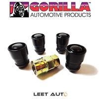 Gorilla Guard Wheel Locks, 14mm x 1.50, Bulge Acorn Seat, Black, 14x1.5 61641BC