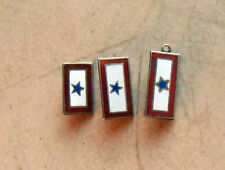 3 Original WW2 US Son In Service Pins 1 Star All Marked Sterling Excellent cond