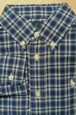 Ralph Lauren Boys Shirt size 5 years 5-6 Navy cream Check Small Pony LS New