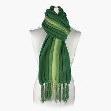 (Green) Alpaca Wool Hand Knitted Unisex Scarf. Alpaca Scarf by INKITA