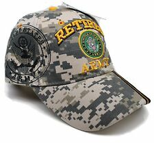 4ca5fbb9aab Adult Military US Army® Retired With Blk Seal Camouflage Adjustable Hat Cap