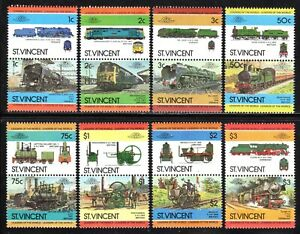 1984 St. Vincent SC# 747-754 - Locomotives Type of 1985 Pairs - M-NH