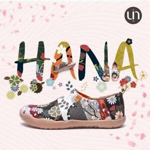 UIN Hana Damenschuhe aus Leinen (Canvas), Motiv Blumen