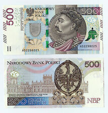 Nowy banknot 500 zł PLN /PLN 500 banknotes from 2016 - collector's condition,