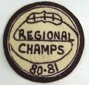 Vtg 1980 Regional Champs Chenille Basketball Varsity Jacket Patch Jenks Oklahoma
