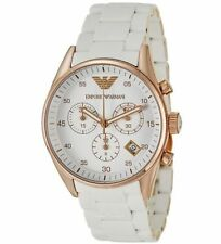 EMPORIO ARMANI AR5919 MENS CHRONOGRAPH MENS WHITE WRIST WATCH.