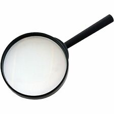 "2xLARGE MAGNIFYING GLASS GLASSES 4"" 100mm X3 HIGH OPTICAL CLARITY GLASS LENS"