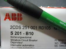 ABB S201-B10 Mini Circuit Breaker 1P B 10A 48Y/277 Su PP. Brand New!