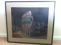 ORIGINAL Playboy ILLUSTRATION SIGNED Artwork 1972 Wilcox Hugh Hefner Pageant