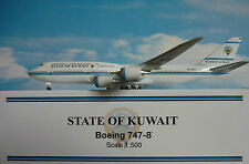 HOGAN ALI 1:500 Boeing 747-8 State of Kuwait 9k-gaa 5514 + Herpa-Wings CATALOGO